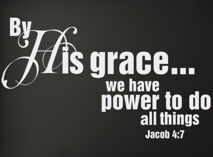 By His Grace We Have Power Wall Decals