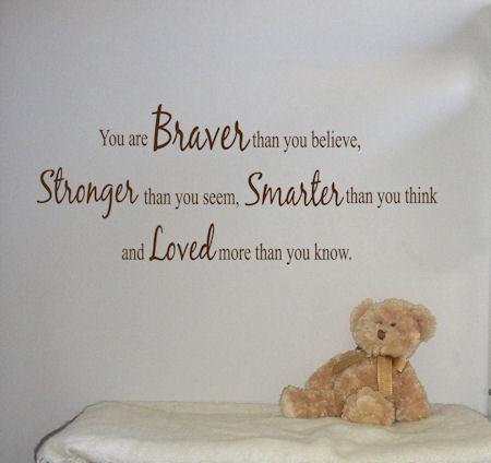 Braver Stronger Smarter Loved 2 | Wall Decal
