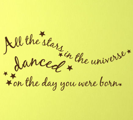 All The Stars Danced Wall Decals