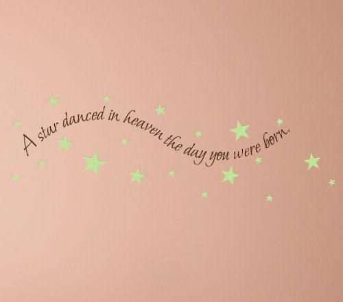 A Star Danced In Heaven Wall Decal