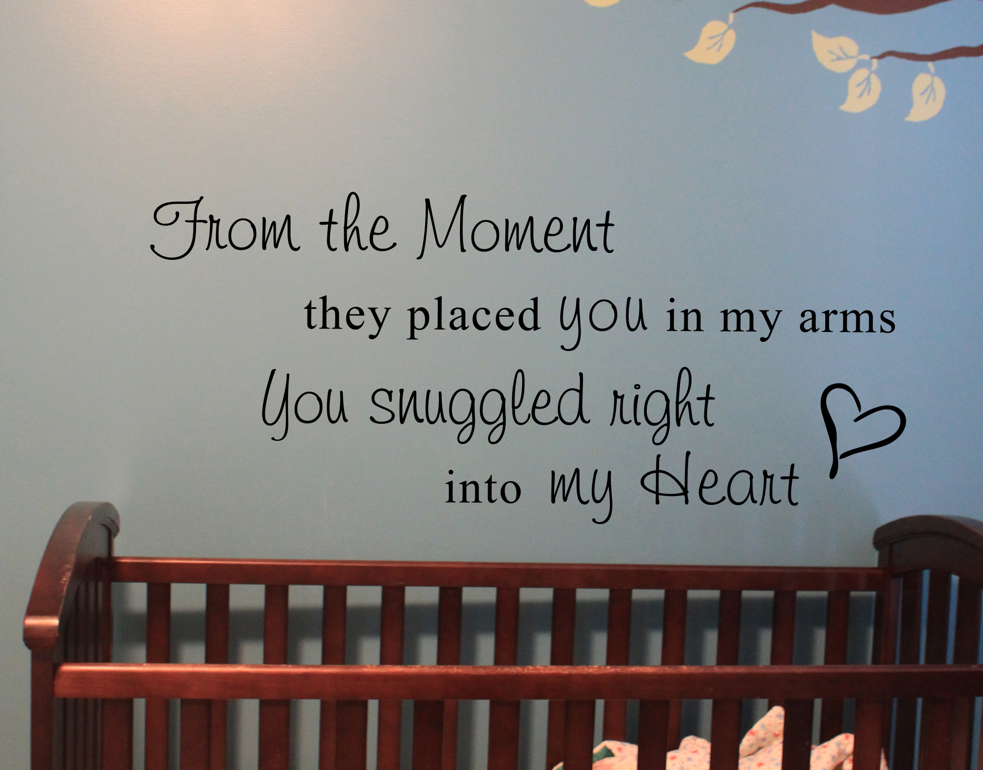 Snuggled into my Heart Wall Decal