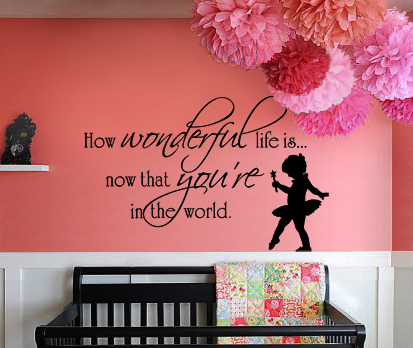Now That You're In The World Wall Decal