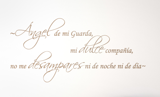 Angel De Mi Guarda Without Name Decal