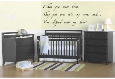When You Were Born Zapfino Font Wall Decal