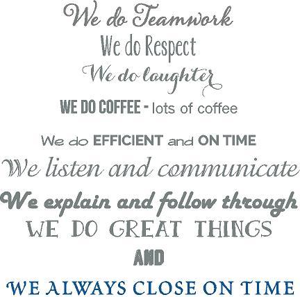 Benchmark Teamwork Decal