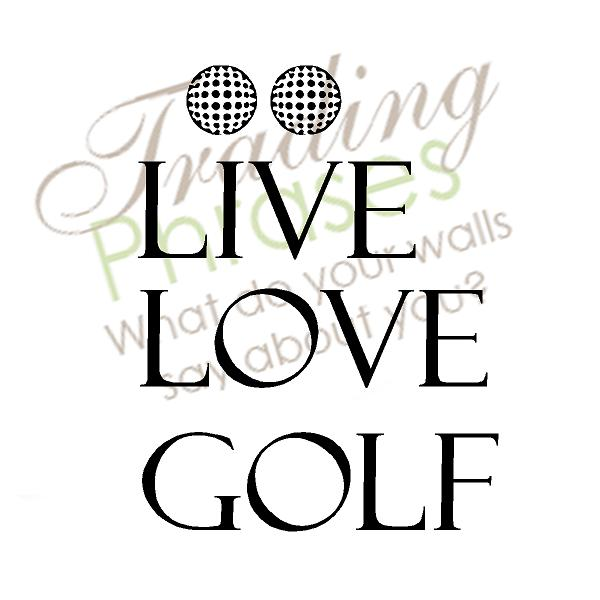 Love Golf Wall Decal