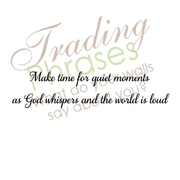 God Whispers Wall Decal