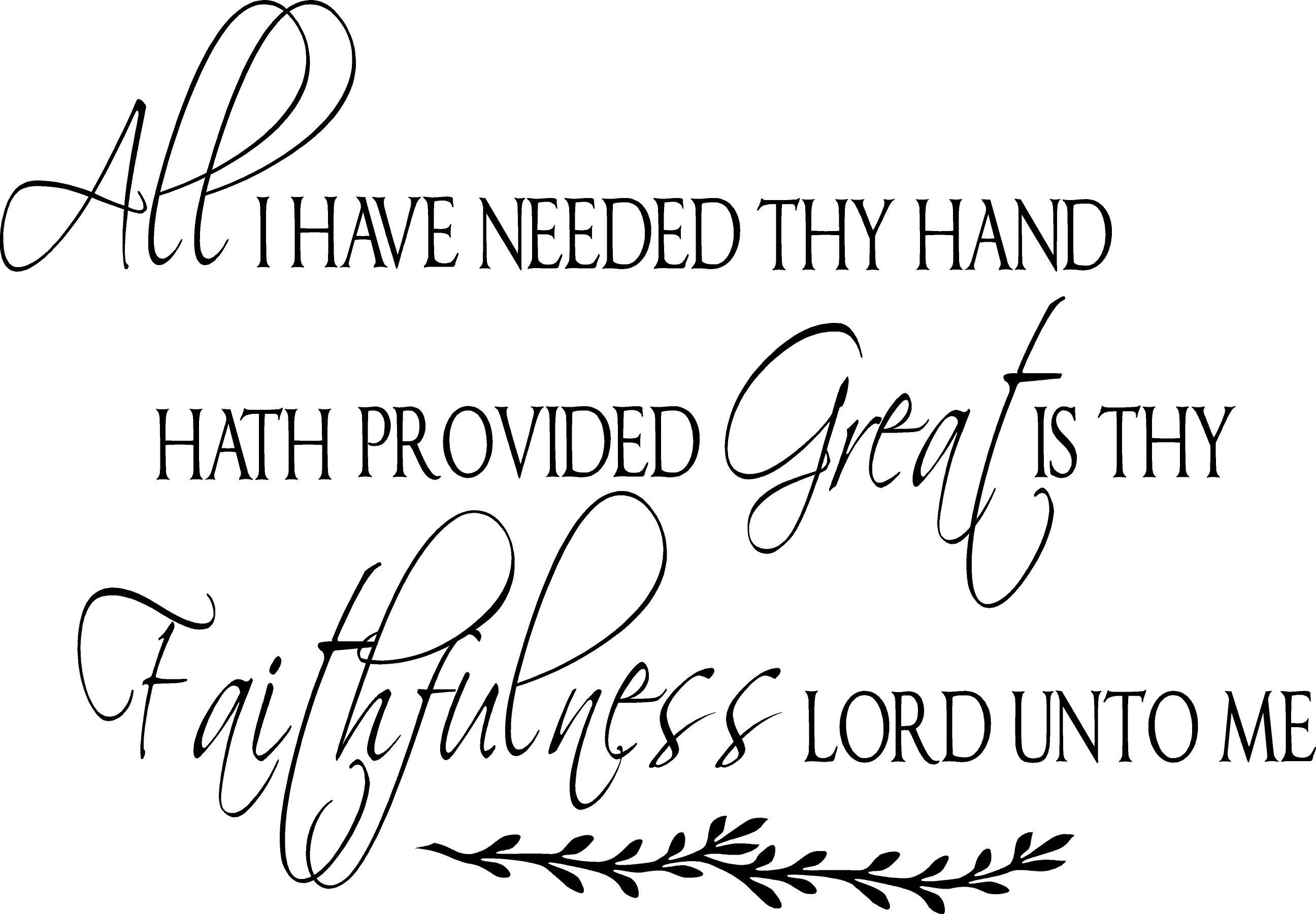 Great Thy Faithfulness Wall Decal