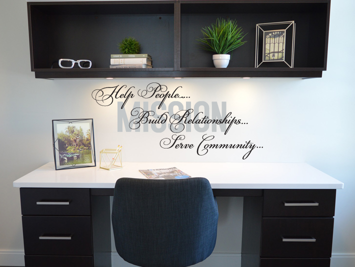 Mission Statement Relationships Wall Decal