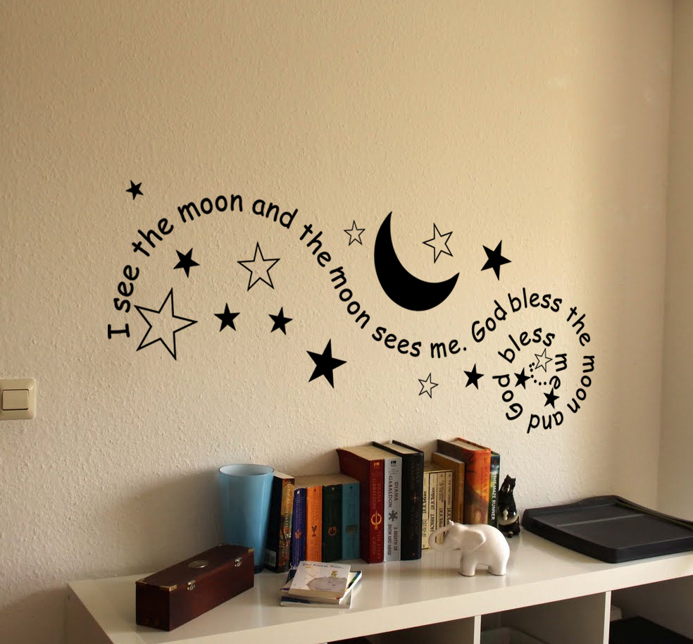 I See The Moon Wall Decal