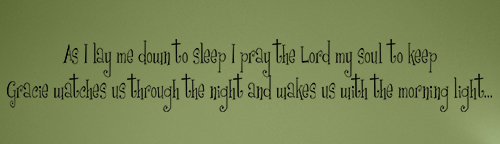 As I Lay Me Down Wall Decal
