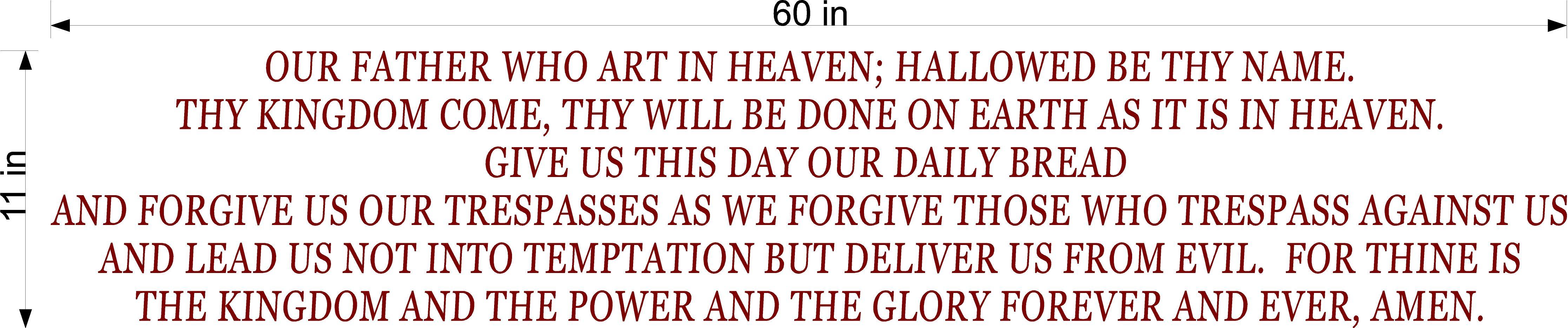 The Lord's Prayer Custom