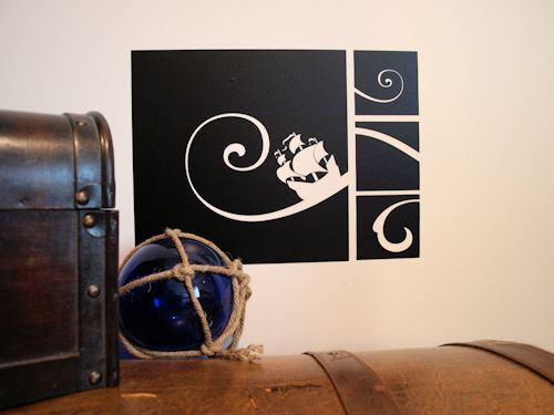 Pirate Wave Wall Decal