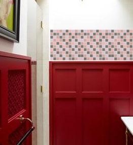 Pink Mosaic Vinyl Tile Sheets