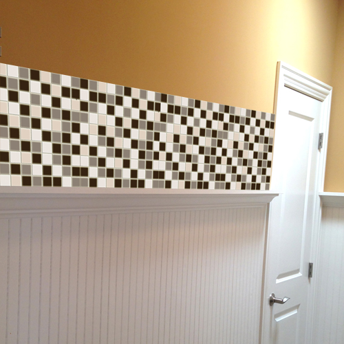 Neutral Browns Mosaic Vinyl Tile Sheets