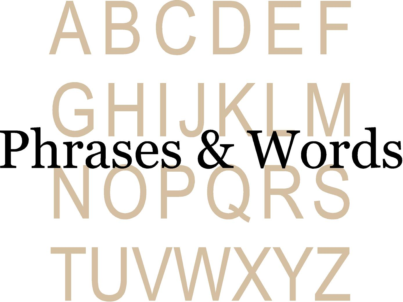 Phrases Design Clearance