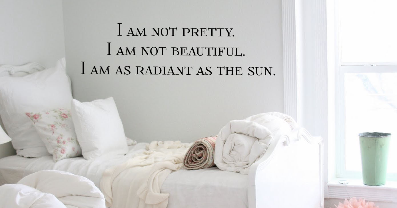 I Am As Radiant As The Sun Wall Decal