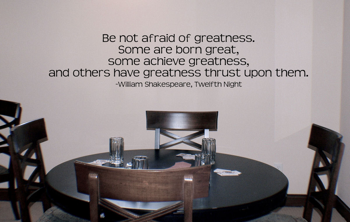 William Shakespeare 2 Quote Wall Decal