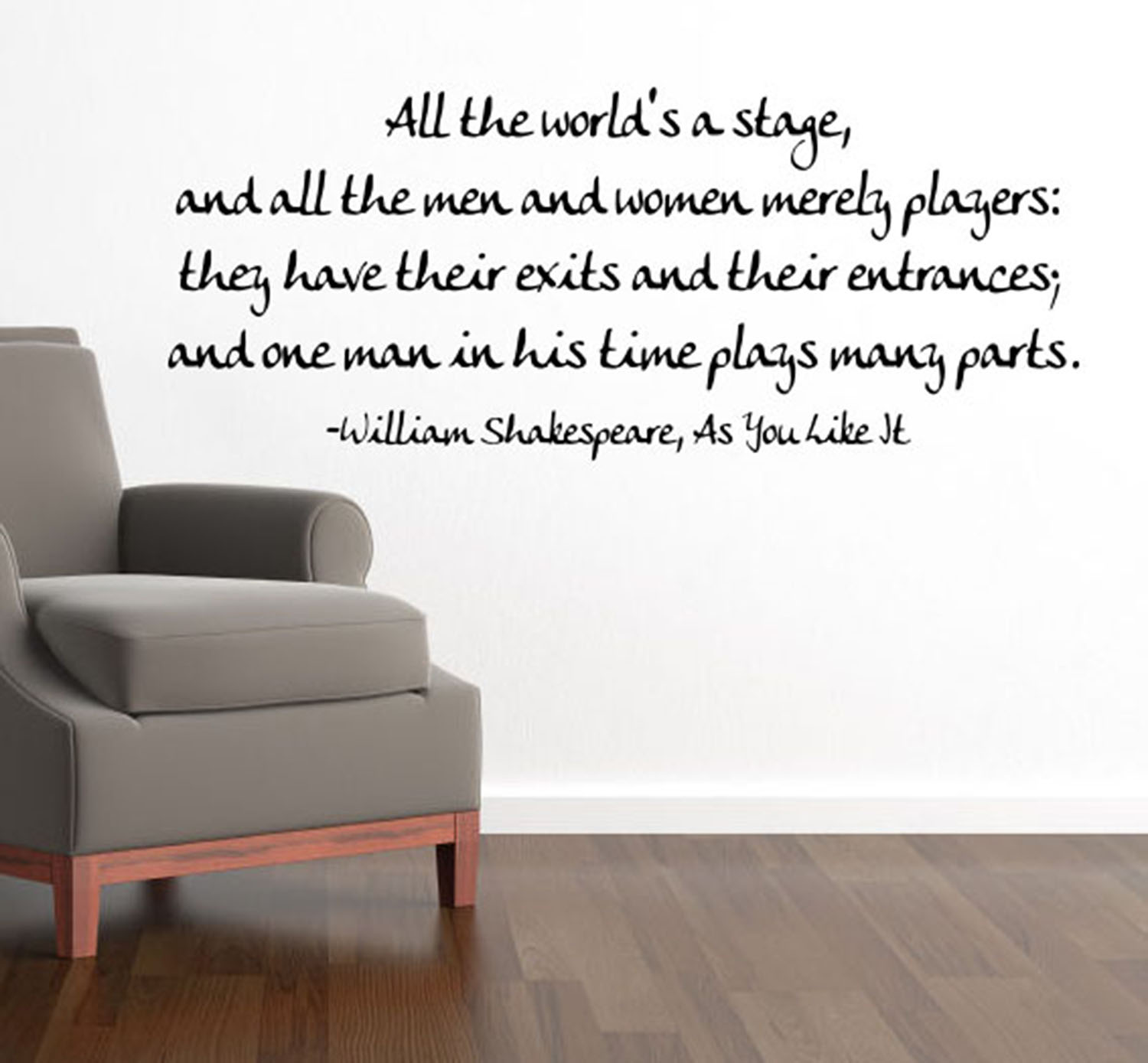 World's A Stage Wall Decal