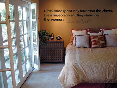 Dress Impeccably Wall Decal
