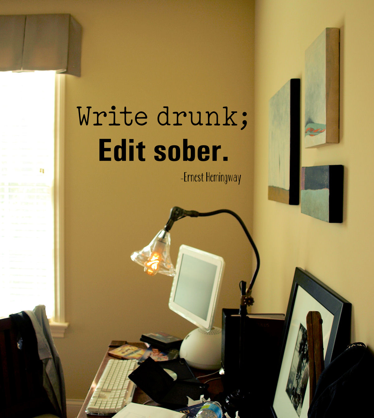 Write Drink Edit Sober Wall Decal