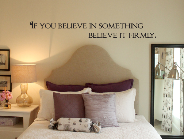 Believe It Firmly Wall Decal