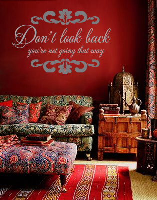 Don't Look Back Wall Decal