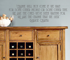 Obama Quote Wall Decal