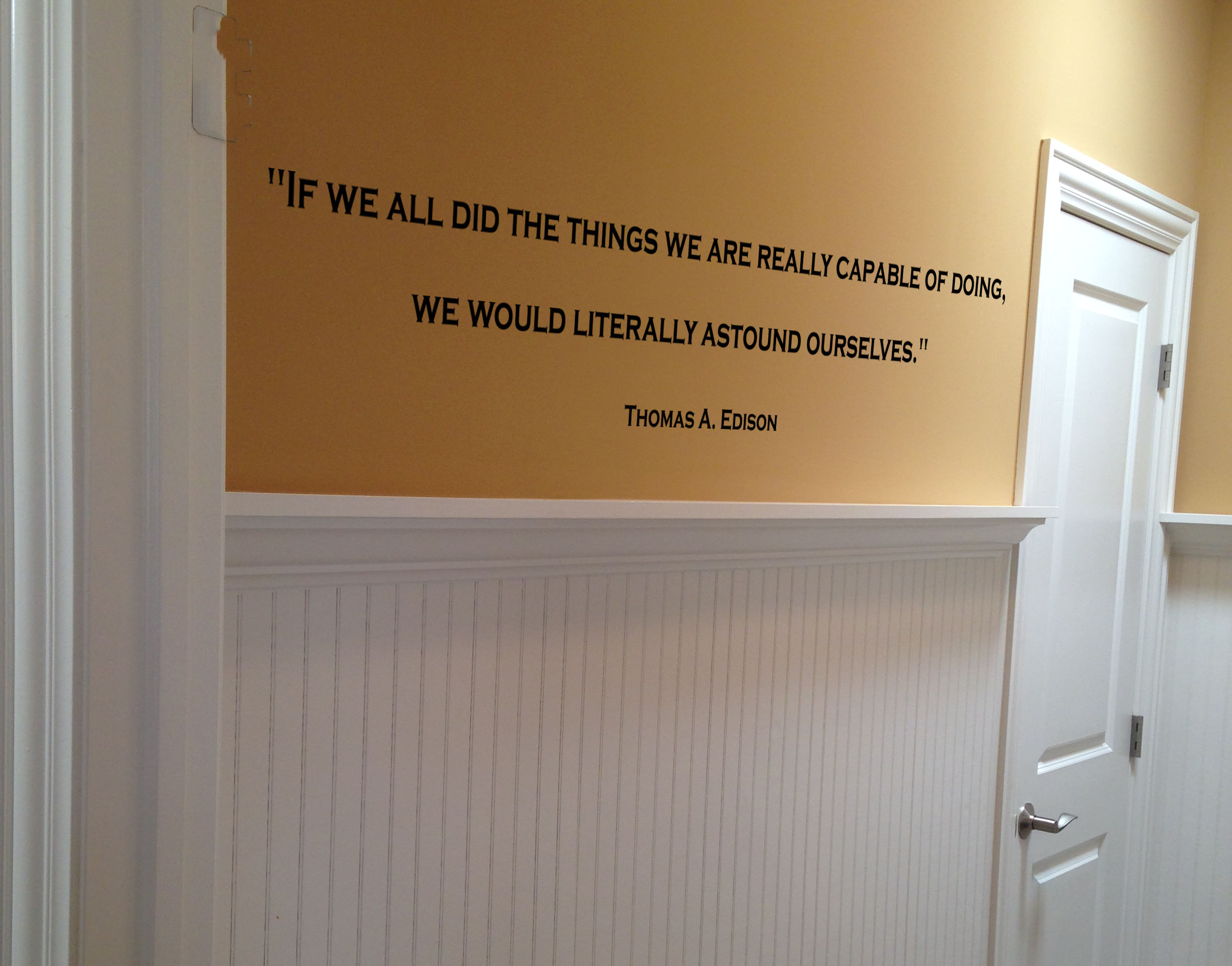 Thomas Edison Quote Wall Decal