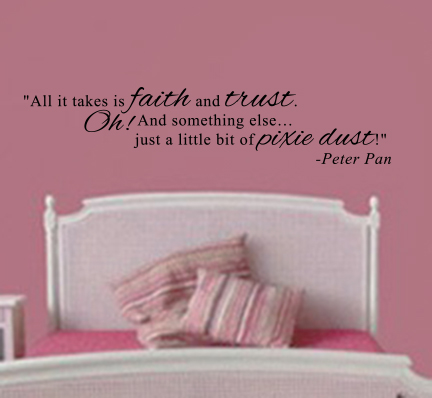 Peter Pan Quote Wall Decal