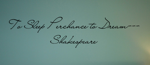 To Dream Shakespeare Wall Decal