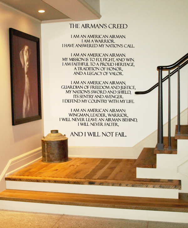 Airman's Creed Wall Decal