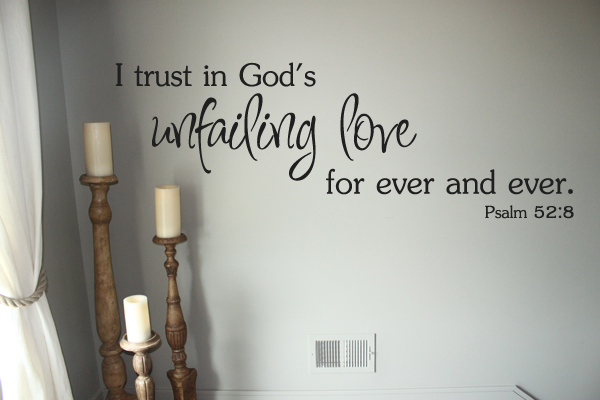 God's Unfailing Love Wall Decal