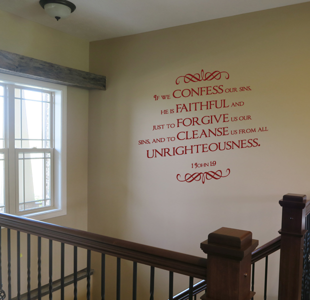 Confess Our Sins Wall Decal