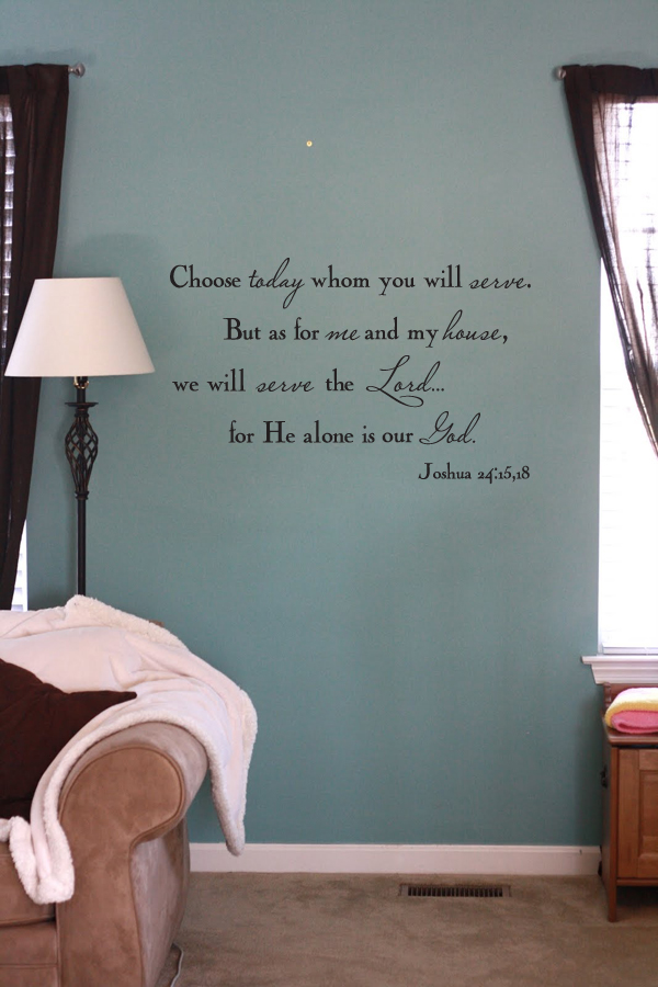 My House Serves Lord Wall Decal