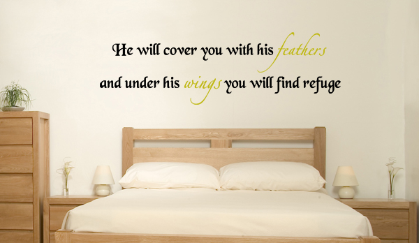 Under His Wings Wall Decal
