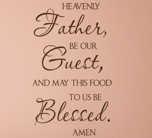 Father Be Our Guest Wall Decal