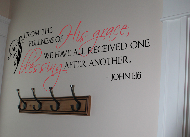 Fullness of His Grace Wall Decal