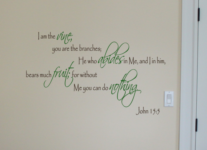 I Am The Vine Wall Decal
