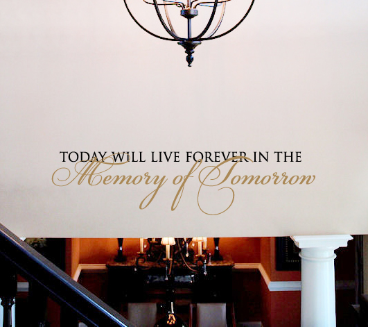 Memory Of Tomorrow Wall Decal