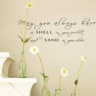 Shell In Your Pocket Wall Decal