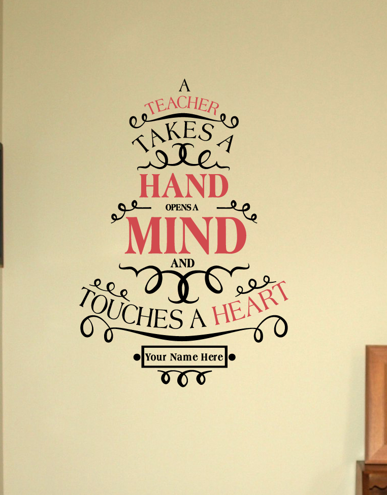Touches A Heart Wall Decal