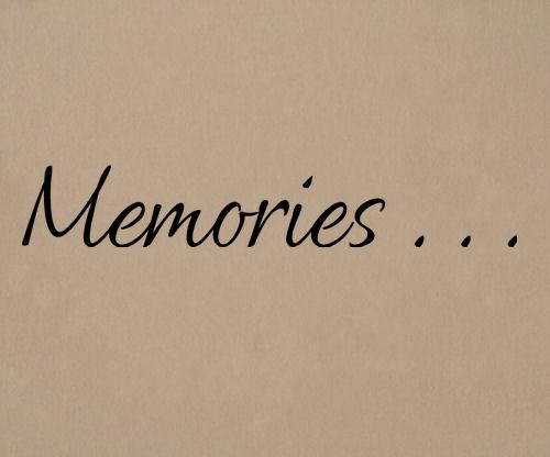 Memories Wall Decal