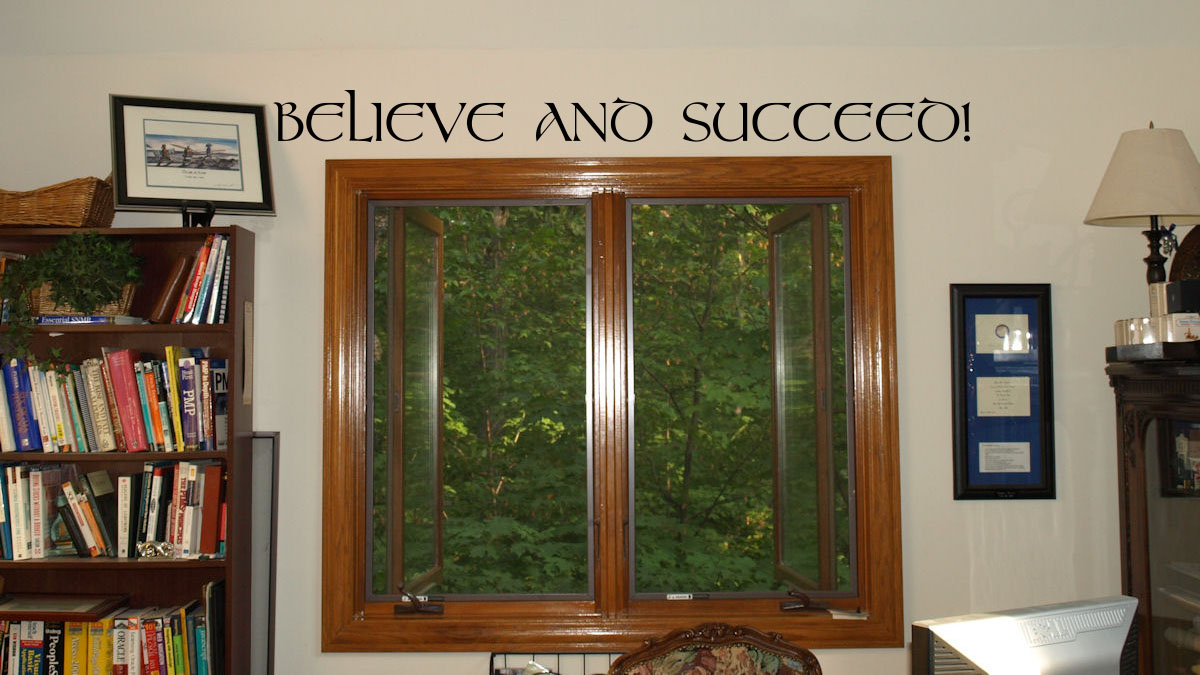 Simply Words Believe And Succeed | Wall Decals
