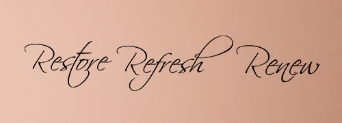 Restore Refresh Renew Wall Decal