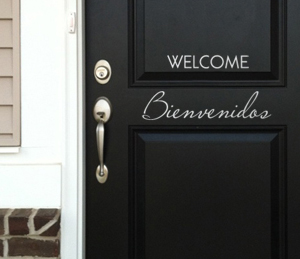 Welcome Bienvenidos Wall Decal