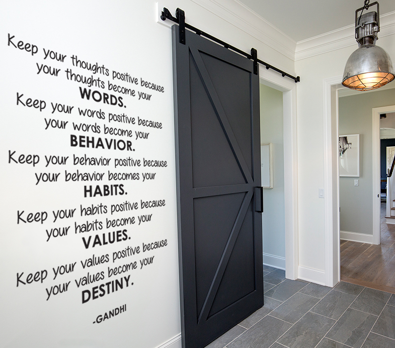 Positive Thoughts Wall Decal