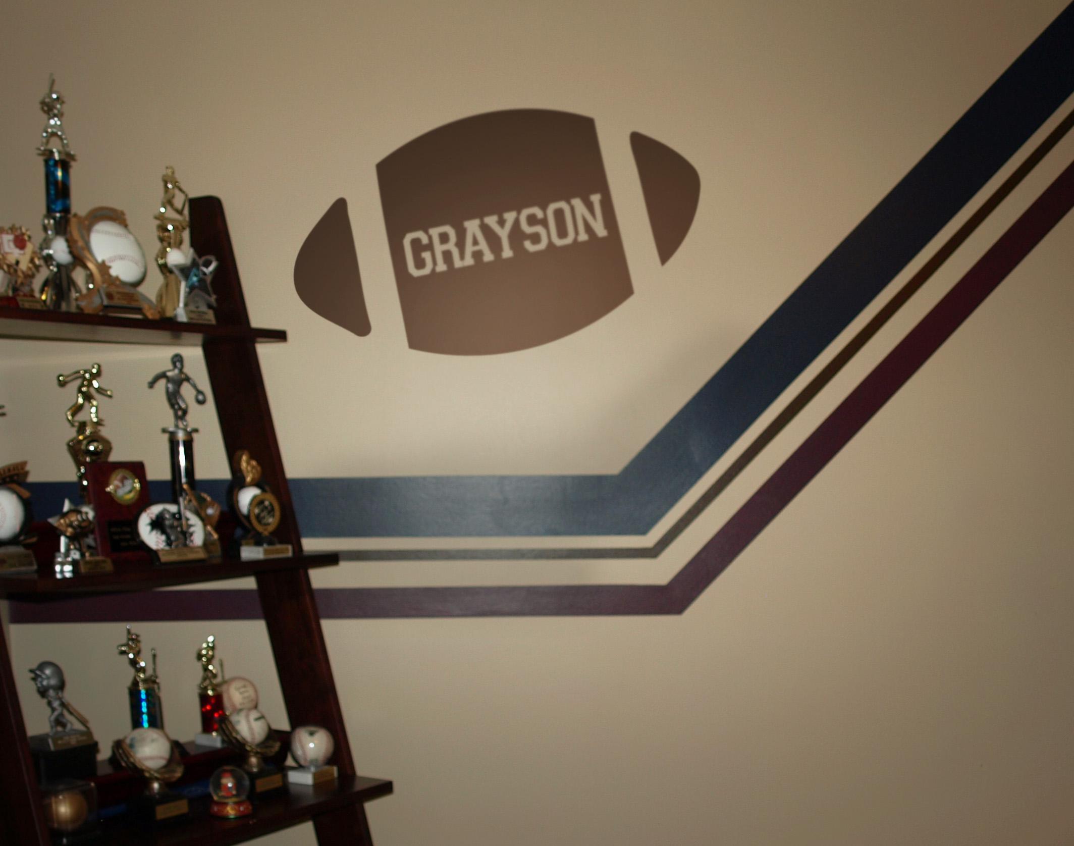 Football Name Wall Decal