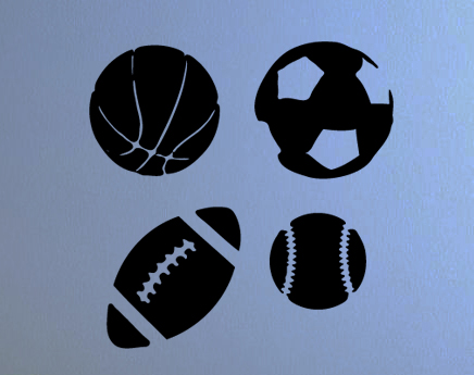 Sports Ball Pack Wall Decals