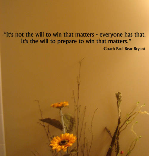 Prepare to Win Wall Decal